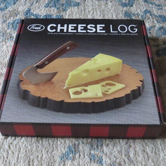 Fred Cheese Log Knife & Cheese Board
